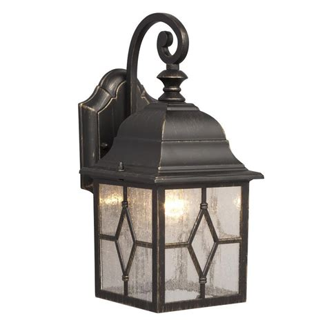 oil rubbed bronze outdoor wall light hton bay 1 light oil rubbed bronze outdoor dusk to dawn