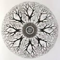 Mandala tree circle tattoo design