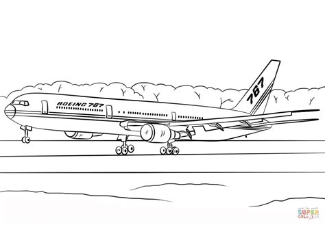 787 Coloring Page by Ausmalbild Boeing 767 400er Ausmalbilder Kostenlos Zum