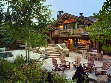 Log Patio by Log Cabin Patio Home Ideas