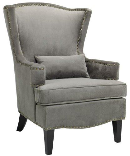 Grey Wingback Chair by Deals Testoni Wing Back Chair 41 Quot Hx30 Quot W Solid Vlvt