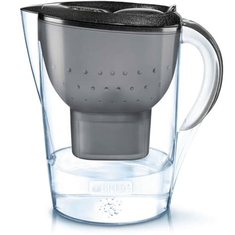 brita under filter brita marella cool water filter jug black glitter 2 4l