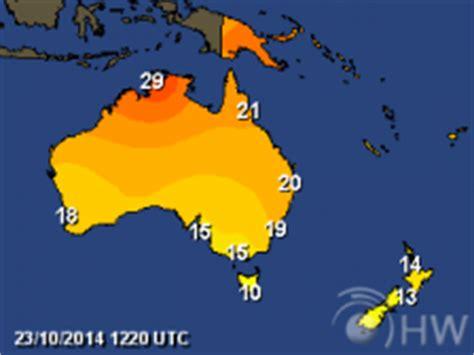 australia & new zealand weather map