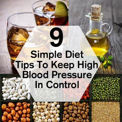 Tips On How To Keep To Your Diet by 9 Simple Diet Tips To Keep High Blood Pressure In