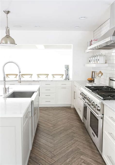 white clean kitchen designs with ceramic tile floor home pros and cons kitchen flooringbecki owens