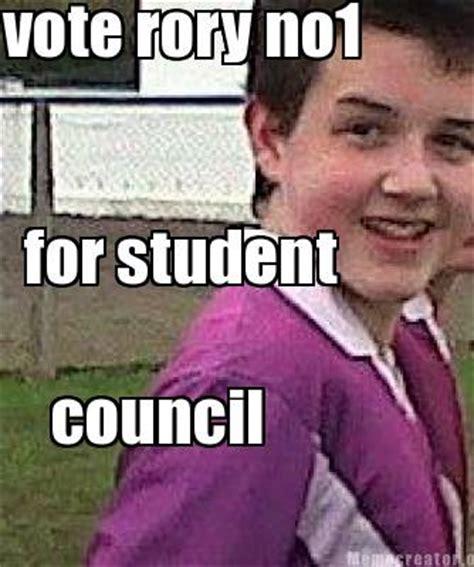 Rory Meme - meme creator vote rory no1 for student council meme