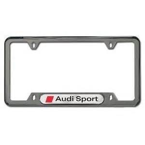 Audi License Plate Frame Genuine Audi Sport Black Pearl License Plate