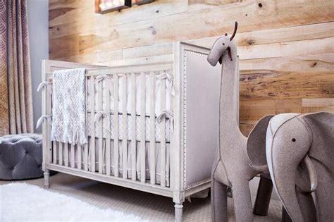 restoration hardware baby crib round gray french nailhead crib with oversized wool felt