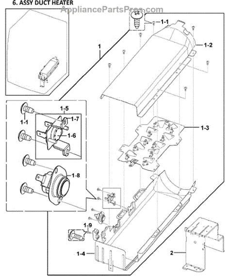 samsung dryer parts diagram parts for samsung dv419aew xaa 0000 heater assy parts