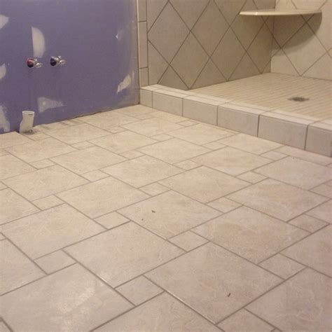 pinwheel design floor tile house