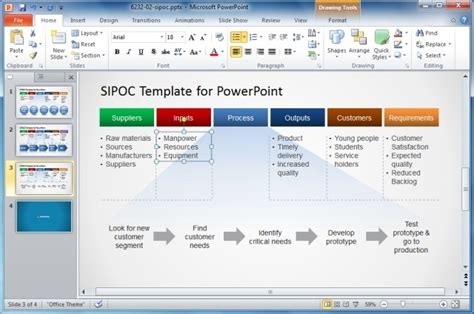Engineering Drawing Template how to make a sipoc diagram