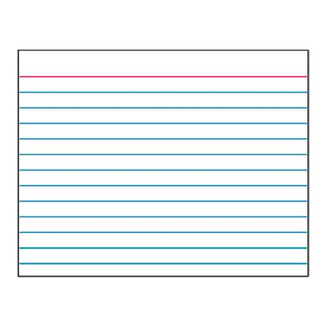 printable index cards template data index card