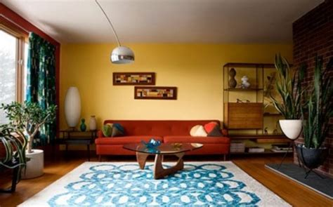 beautiful Living Room Carpet Ideas #4: stylish-mid-century-living-rooms-68-554x345.jpg