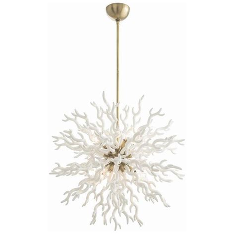 Large White Chandelier Arteriors Diallo Large White And Brass Chandelier