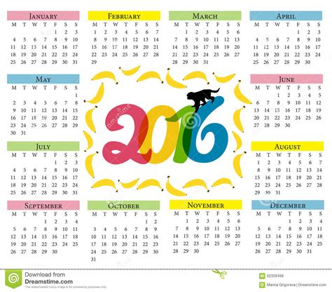 new year monkey colouring in monkey calendar calendar for 2016 with a symbol of the