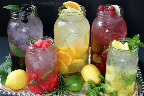 Different Flavored Detox Water by Naturally Flavored Water