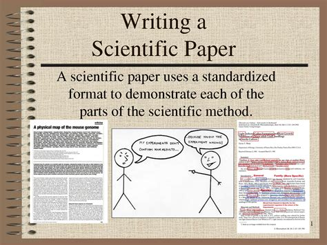 writing scientific papers in write scientific paper future effective cf