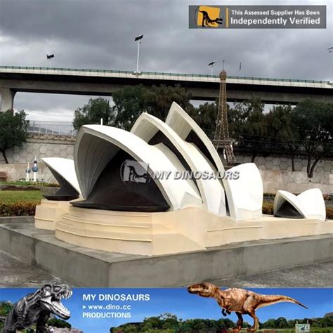 mini park scaled model fiberglass sydney opera house