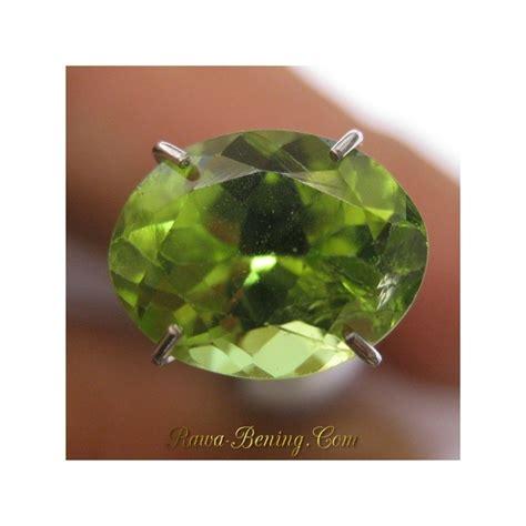 Cincin Silver Lapis Platinum Berlian Imitasi Batu Kuning Bulat batu permata peridot 2 15 carat oval cut harga