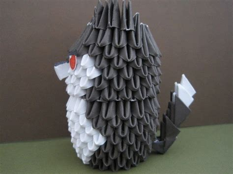 origami husky puppy wolf  origami dog paper