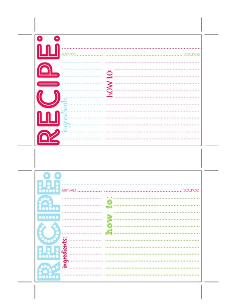 access recipe card template for my fellow procrastinators 3 diy cookie mix kits and