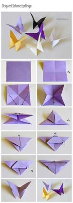 Paper Butterflies Origami - easy paper craft projects you can make with