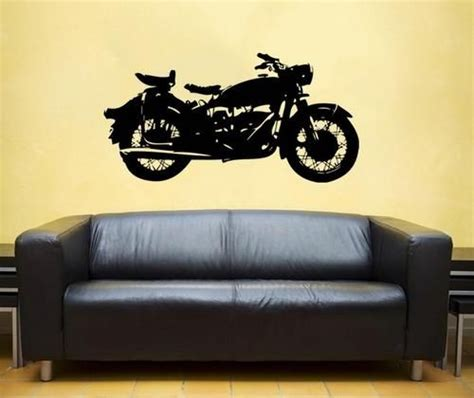 harley davidson wall stickers classic motorcycle vinyl wall decal harley davidson interior design