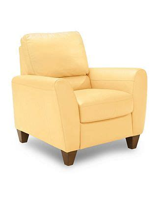 yellow recliner chair almafi leather pushback recliner furniture leather