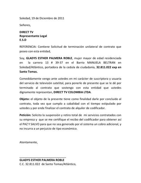formato carta de cancelacion telmex carta de renuncia a servicios