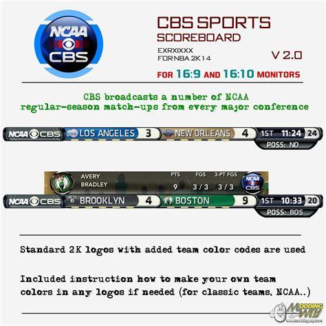 Mba Cbs Scores by Cbs Scoreboard V2 1 Nba 2k14
