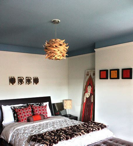 Painting Ceilings With Color by Master Bedroom Makeover Painted Ceiling In Which I