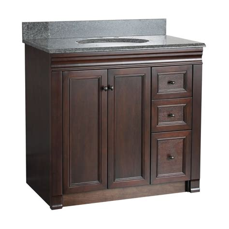 36 Bathroom Vanity With Drawers Foremost Shea3621dr Tobacco Bathroom Vanity 36 Quot With Right Side Drawers Faucetdirect