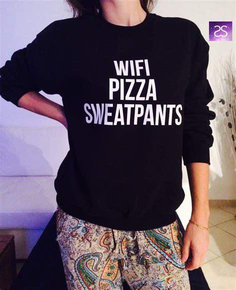 Wifi Jumper wifi pizza sweatpants sweatshirt jumper gift cool by stupidstyle