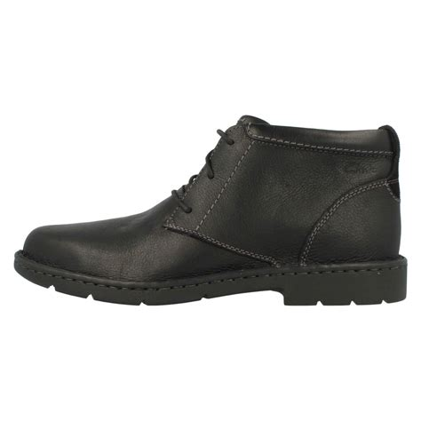 mens wide boots mens clarks wide fitting smart boots stratton limit ebay