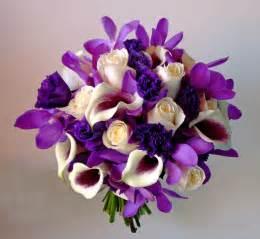 purple wedding bouquets purple and ivory white wedding flower bridal bouquet
