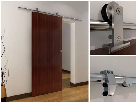 Interior Sliding Barn Doors Hardware 6 6 Ft Modern Stainless Steel Interior Sliding Barn Wood Door Hardware Track Set Ebay