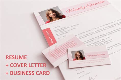 resume business cards a complete application set pink curry onions