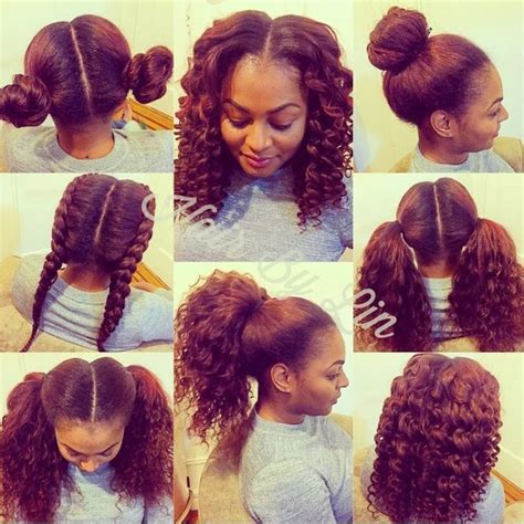 curly sew in with braids 2 part vertical versatile sew in nyc natural hair