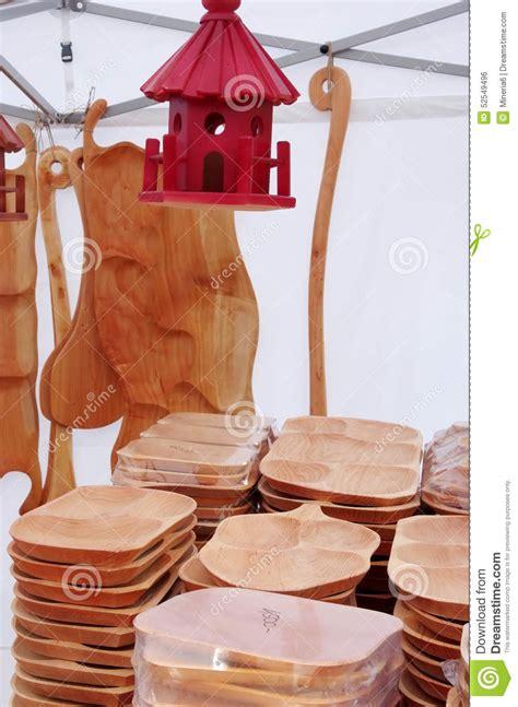 Wood Handcraft - wooden kitchen utensils stock photo image 52549496