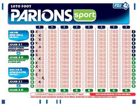 Grille Loto Foot Imprimer by Jouer Au Loto Foot En Ligne Coment Gagner Aux Sportifs
