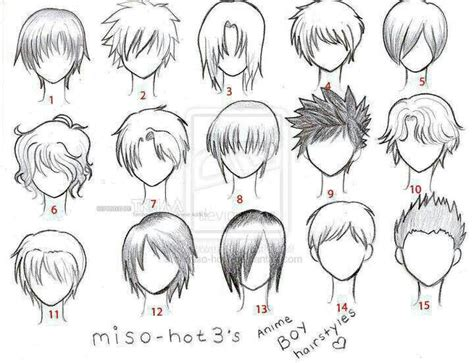 anime character template anime hair boy template character design