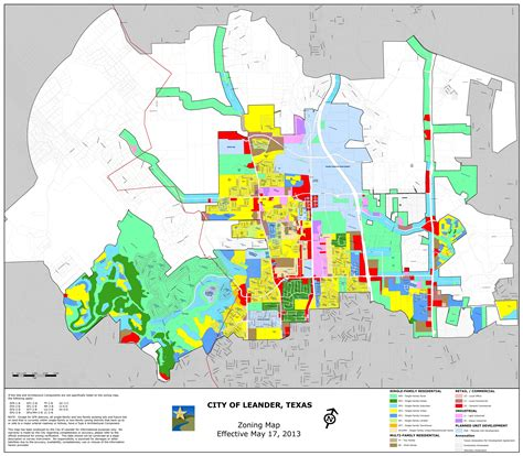 map of leander texas zoning city of leander texas