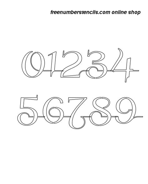 printable calligraphy number stencils 11 inch wedding calligraphy calligraphy style number