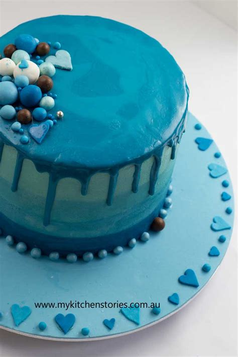 Ombre Cake Blue Blue Ombre Cake Chocolate Layers My Kitchen Stories