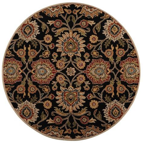 echelon area rug home decorators collection echelon black 6 ft x 6 ft area rug 8784760210 the home depot
