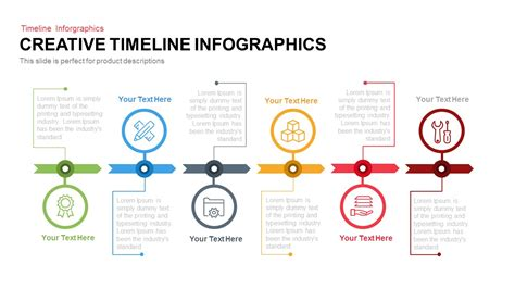 themes line free creative timeline infographics powerpoint and keynote