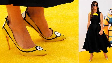 imagenes de minions zapatos sandra bullock impone moda minion sobre la alfombra amarilla