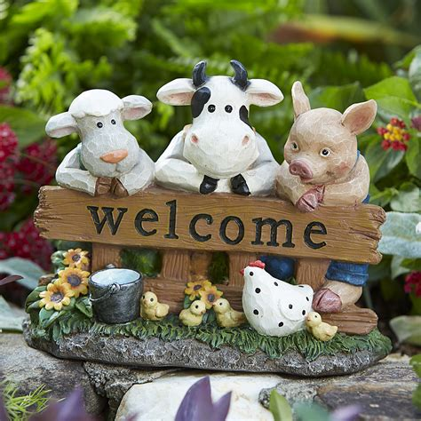 farm animals  statue outdoor living outdoor