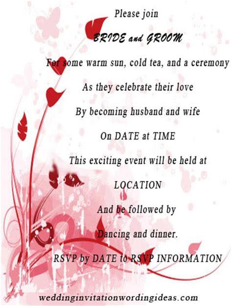 invitation wordings wedding invitation wording ideas just another site