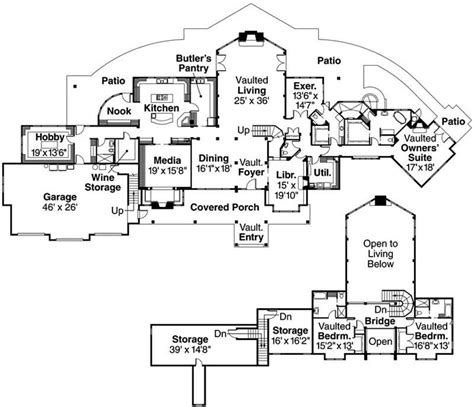 large cabin plans big mansion floor plans